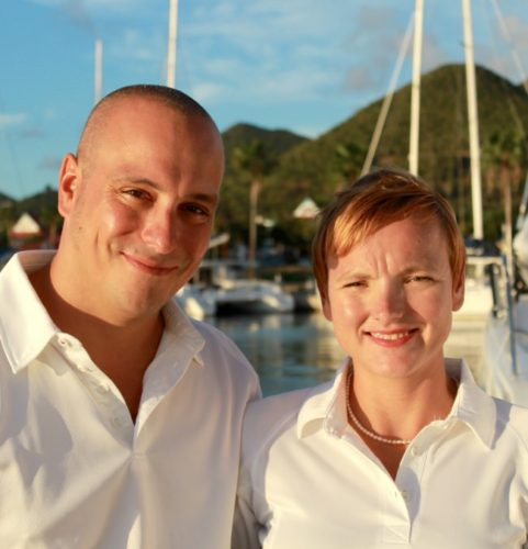 Captain and Crew of Xenia 50, a 50 Ft Privilege Caribbean Yacht Charter