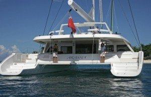 Come aboard BVI Yacht Charter Akasha