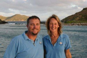 Captain and Crew of Braveheart, a  58 ft Simonis Caribbean Yacht Charter