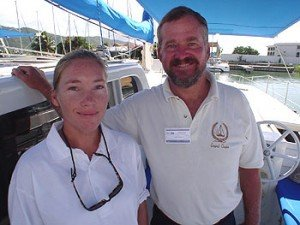 Captain and Crew of Grand Oasis, a 60 ft Walker Caribbean Yacht Charter