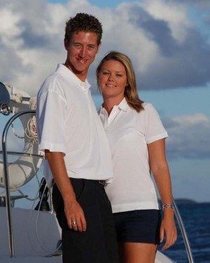 Captain and Crew of Tiger Lily, a 66 Ft Gunboat Caribbean Yacht Charter