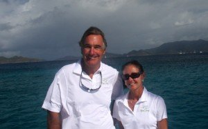Captain and Crew of Flying Ginny VII, a 55 ft Lagoon Caribbean Yacht Charter