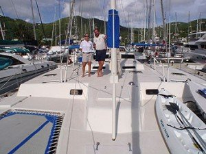 Come aboard BVI Yacht Charter Grand Oasis