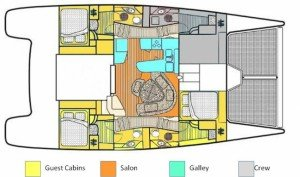 Yacht Layout of British Virgin Islands Charter Dreaming On