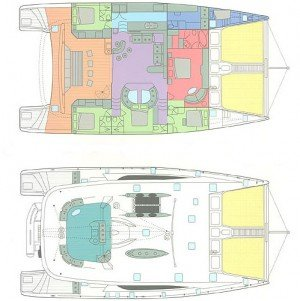 Yacht Layout of British Virgin Islands Charter Akasha