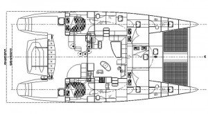 Yacht Layout of British Virgin Islands Charter Ocean Jedi