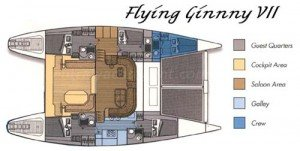 Yacht Layout of British Virgin Islands Charter Flying Ginny VII