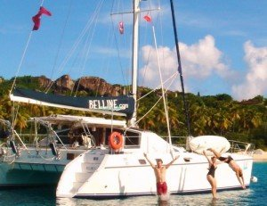 Enjoy a luxurious Caribbean yachting experience aboard Belline II, a catamaran charter based in the BVI.