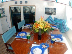 Come aboard BVI Yacht Charter Adastra