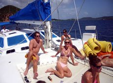 Come aboard BVI Yacht Charter Catalyst