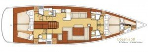 Yacht Layout of British Virgin Islands Charter Blue Passion