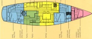 Yacht Layout of British Virgin Islands Charter Sandcastle