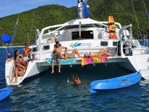 Come aboard BVI Yacht Charter Breanker