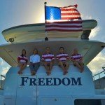 Meet Freedom's Captain and Crew. Sail the Caribbean aboard this 120ft Power Yacht BVI Yacht Charter.