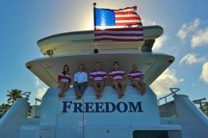 Captain and Crew of Freedom, a 120ft Power Yacht Caribbean Yacht Charter