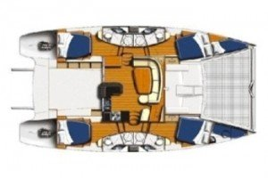 Yacht Layout of British Virgin Islands Charter Flip Flop