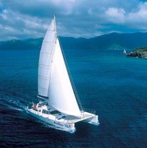 BVI catamaran rental Breanker accommodates up to 8 guests on its 4 Queen size cabins, all with ensuite facilities.
