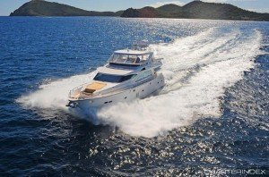 Explore the BVI aboard the Viaggio, a 76-foot Horizon Power Yacht.