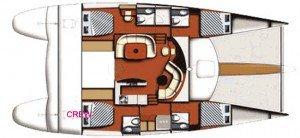 Yacht Layout of British Virgin Islands Charter Pas De Deux