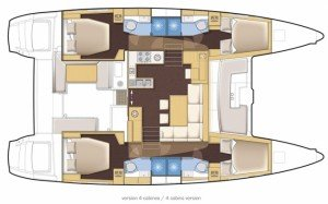 Yacht Layout of British Virgin Islands Charter Gypsy Princess