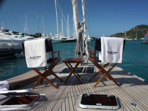 Come aboard BVI Yacht Charter Pacific Wave