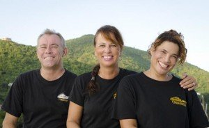 Captain and Crew of Obsession, a 85 ft Hatteras Caribbean Yacht Charter