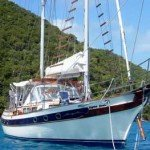Crystal Clear is BVI sailing yacht available for fully-crewed, captain-only, and half-board charter for the perfect Caribbean sailing vacation.