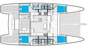Yacht Layout of British Virgin Islands Charter Miss Kirsty