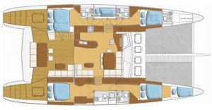 Yacht Layout of British Virgin Islands Charter Soon Come