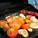 Grilled vegetables aboard Mimbaw.