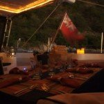 Dining under the star while sailing the Caribbean aboard Lolita