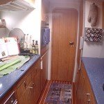 Luxury BVI cat Lolita features a spacious galley