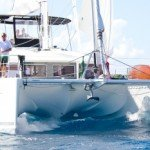BVI Catamaran Blue Moon - Bow