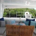 Tortola Catamaran Blue Moon Cockpit