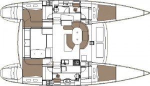 Yacht Layout of British Virgin Islands Charter Mimbaw