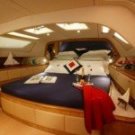 master bedroom aboard luxury yacht lolita