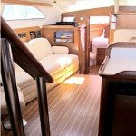 Spacious Salon for Lounging Aboard Caribbean Luxury Sailboat La Palapa