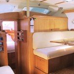 Spacious Salon for Lounging Aboard British Virgin Islands Sailing Yacht La Palapa