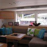 Spacious Salon of BVI Sailing Catamaran Blue Moon