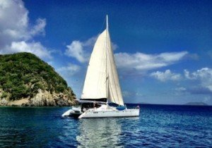 Lolalita, a yacht charter catamaran in the BVI and Caribbean.
