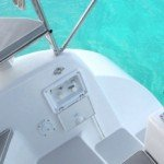 Walk Down Stern at British Virgin Islands Luxury Sailing Boat La Palapa
