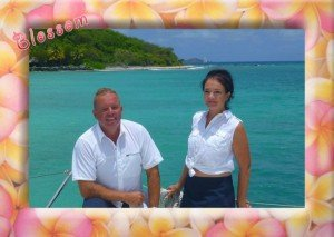 Captain and Crew of Blossom, a 47 ft Leopard Caribbean Yacht Charter