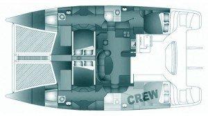 Yacht Layout of British Virgin Islands Charter Meka