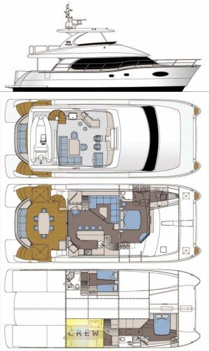 Yacht Layout of British Virgin Islands Charter La Manguita