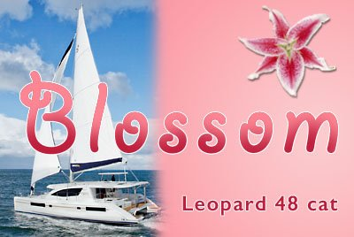 Come aboard BVI Yacht Charter Blossom