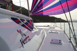 Come aboard BVI Yacht Charter Meka