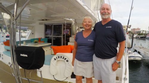 Captain and Crew of Blossom, a 48 ft Leopard Caribbean Yacht Charter