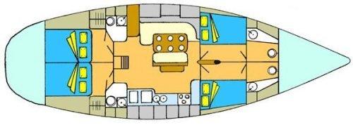 Yacht Layout of British Virgin Islands Charter Antillean