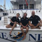 Meet One Net's Captain and Crew. Sail the Caribbean aboard this 86 Feet Hatteras BVI Yacht Charter.