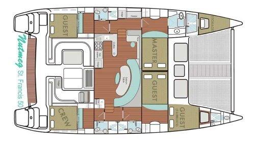 Yacht Layout of British Virgin Islands Charter Nutmeg